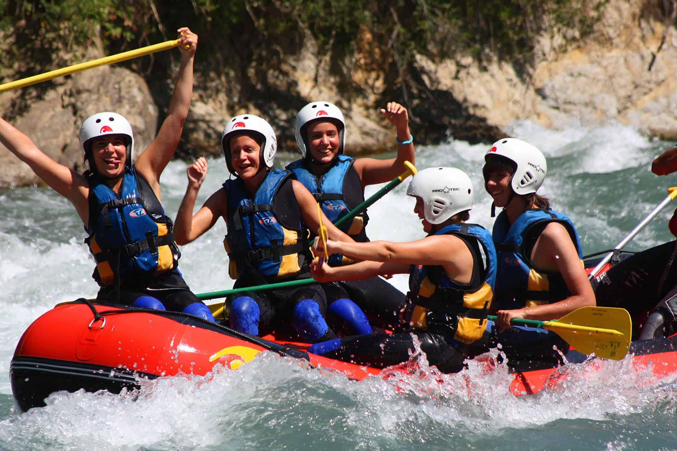 Rafting y aguas vivas en Pirineos