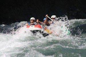 Rafting en grupo Huesca