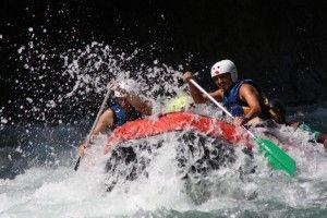 Rafting despedida de soltero