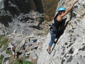 Actividad escalada Sierra Guara