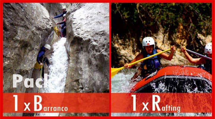 Barranquismo Guara + Rafting  Pirineos 98€