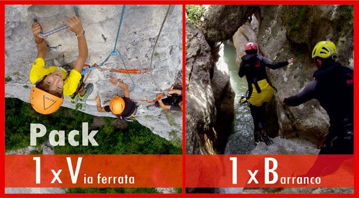 1Barranco + 1 Via ferrata 98€
