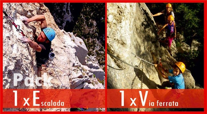 Via ferrata + Escalada  98€