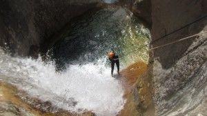 Canyoning barranco Mascún Sierra de Guara