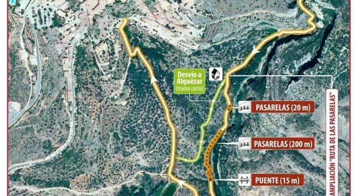 Nueva Ruta de las Pasarelas del Rio Vero